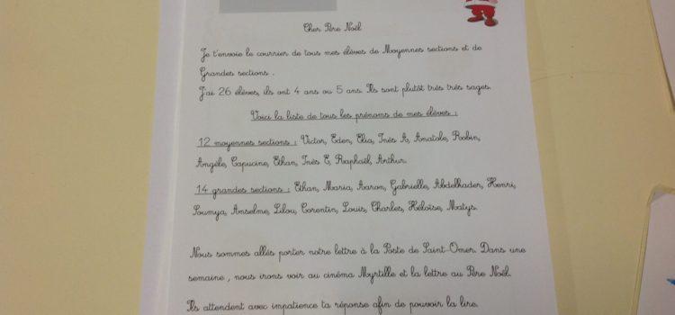 Lettre au Père Noël en MS-GS