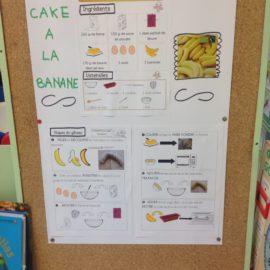 Cake à la banane en GS